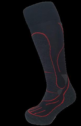 ČARAPE REUSCH MERINO 70% BLACK-RED M 38-41