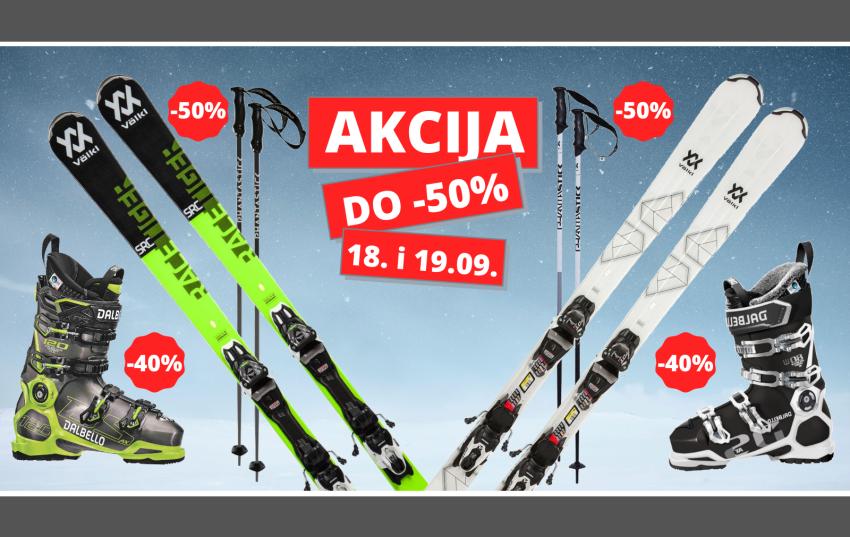 Do 50% popusta povodom otvorenja ski sezone u poslovnici Varaždin!