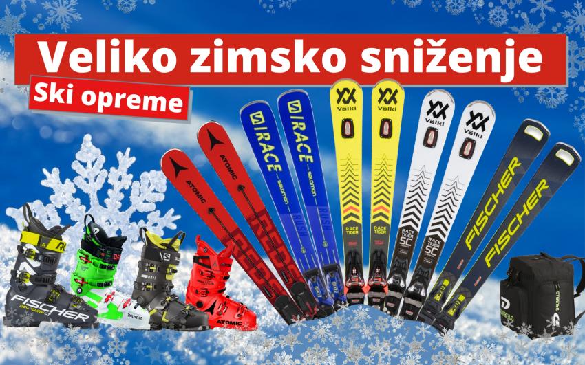 Veliko zimsko sniženje ski opreme